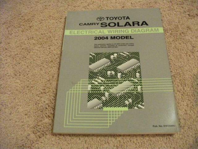 2004 Toyota Camry Solara Electrical Wiring Diagram Manual Oem