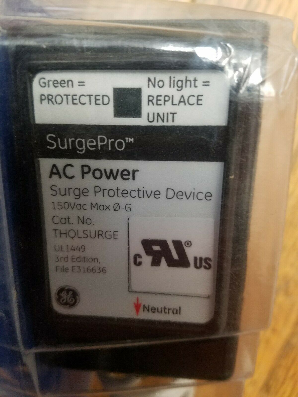 GE Whole-House Surge Protector 1,520-Joules 25,000 Max Amp LED Confirmation