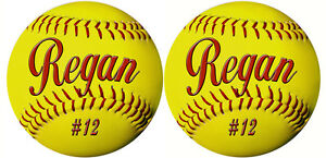 25-Team-Softball-Decals-Bumper-Stickers-Personalize-Text-Many-Colors-Discounted
