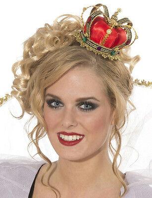 Mini Queen Crown Hat Costume Accessory