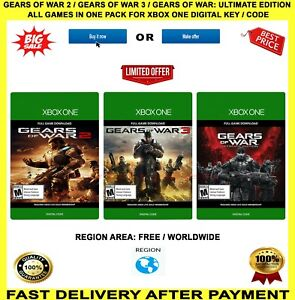Gears-OF-WAR-ULTIMATE-EDITION-GEARS-OF-WAR-2-e-3-Xbox-Chiave-codice-digitale-One