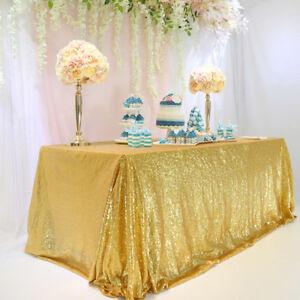 Seamless-60-034-x102-034-Gold-Sequin-Tablecloth-Table-Cover-Table-Decor-Wedding-Banquet