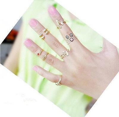 Set 7 Stk  Midi Ring Fingerring Fingerspitzenring  Obergelenkring Fingerpartie