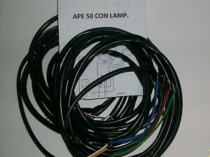 Schema Impianto Elettrico Zip 50 : Impianto elettrico electrical wiring ape 50 con frecce e schema