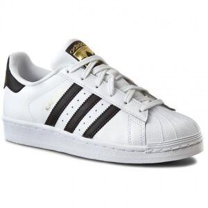 adidas Superstar J Older Kids UK 4 EU 36 2 3 White Black Sneaker ... 136351afb