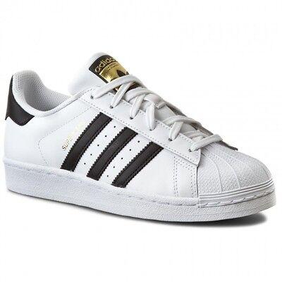 Adidas Unisex Kinder Superstar J C77154 Low Top, Weiß Co