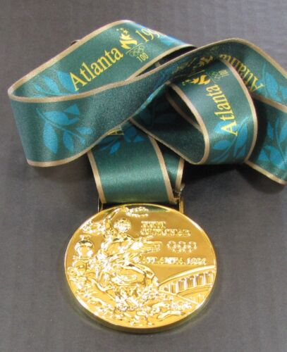 Goldmedaille 1996 Atlanta Olympiade mit Seide Band /& Aufbewahrungstasche