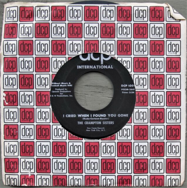 NORTHERN SOUL VOCAL GROUP 45: CRAMPTON SISTERS I Didn't Know What Time It Was