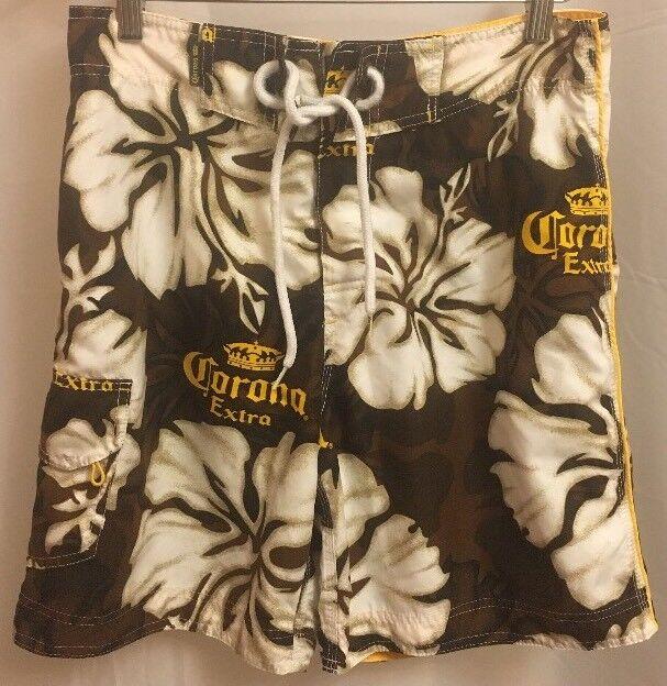 7e0114f6ab Corona Extra Mens Swim Trunks Swimsuit Bathing Suit Swimwear Beer Size XS