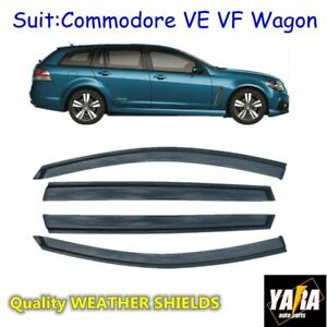 Weather-shields-Window-visors-for-HOLDEN-Commodore-VE-VF-Wagon-Tinted