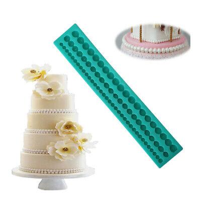 Pearl String Silicone Mold Sugar Craft Fondant Mat Cake Decor Baking Tools FM