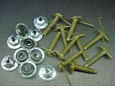 100 Pontiac 10-32 zinc plated moulding clip sealer nuts Buick Cadillac GM Olds