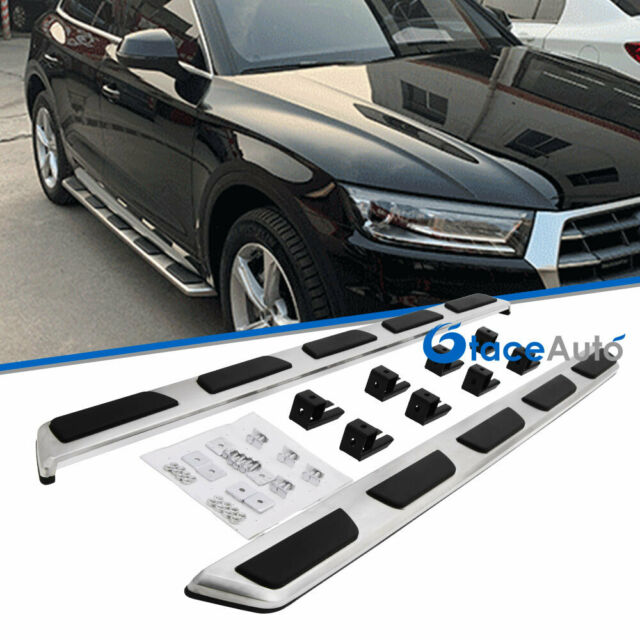 To Fit 2017 AUDI Q5 FY Stainless Steel Running Boards Side