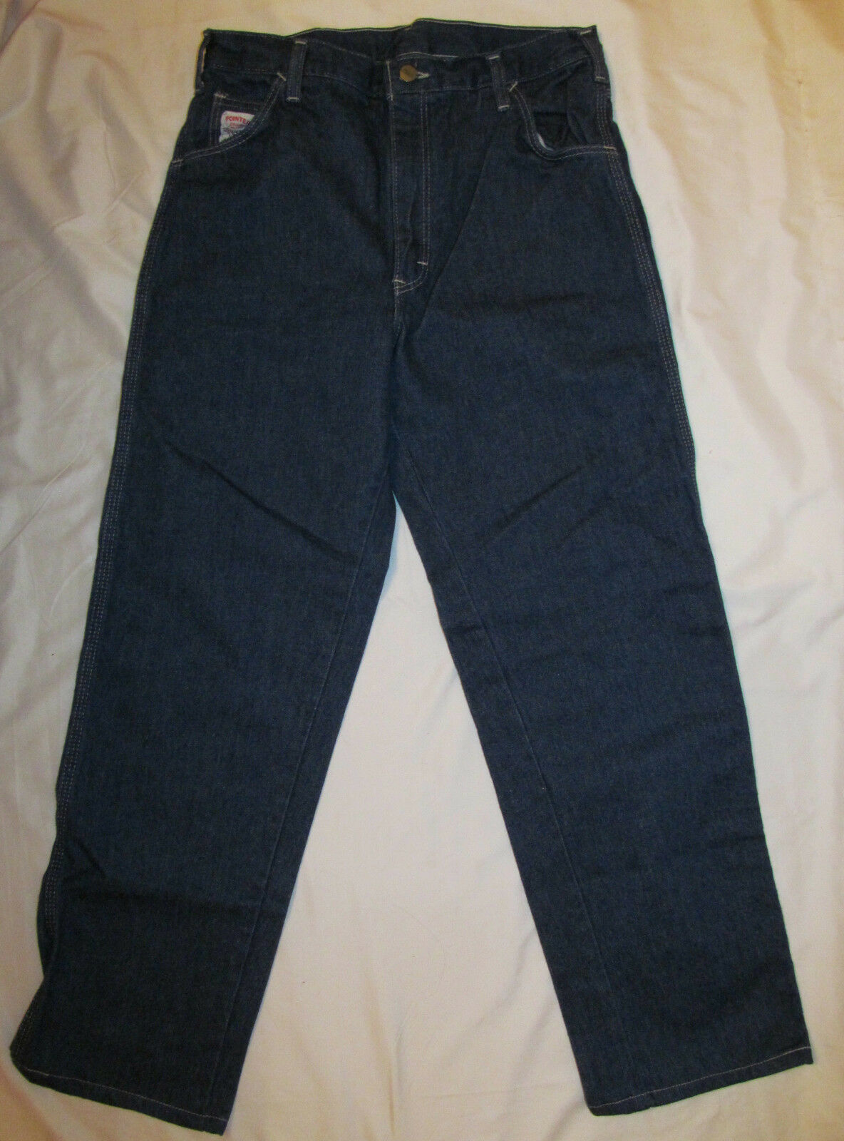 Vintage POINTER Dungaree boot cut straight leg high waist jeans 10 S NWT