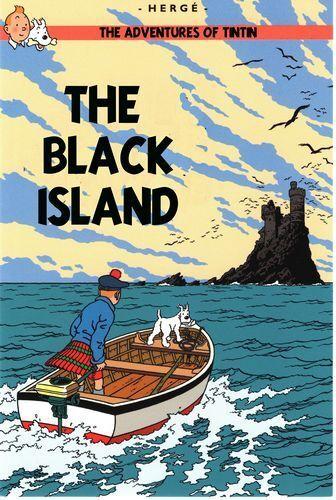 Vintage Tintin The Black Island Poster A4//A3//A2//A1 Print