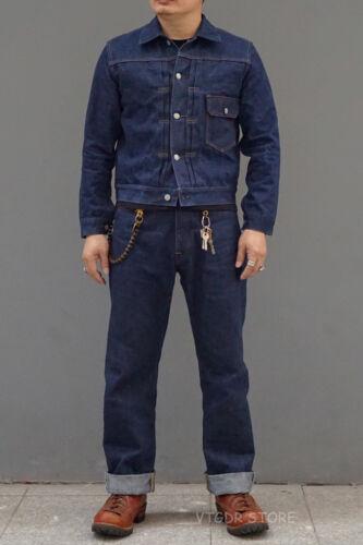 BOB DONG Reproduction 16oz Classic 506xx Type 1 Jean Jacket 1940s Men Denim Coat