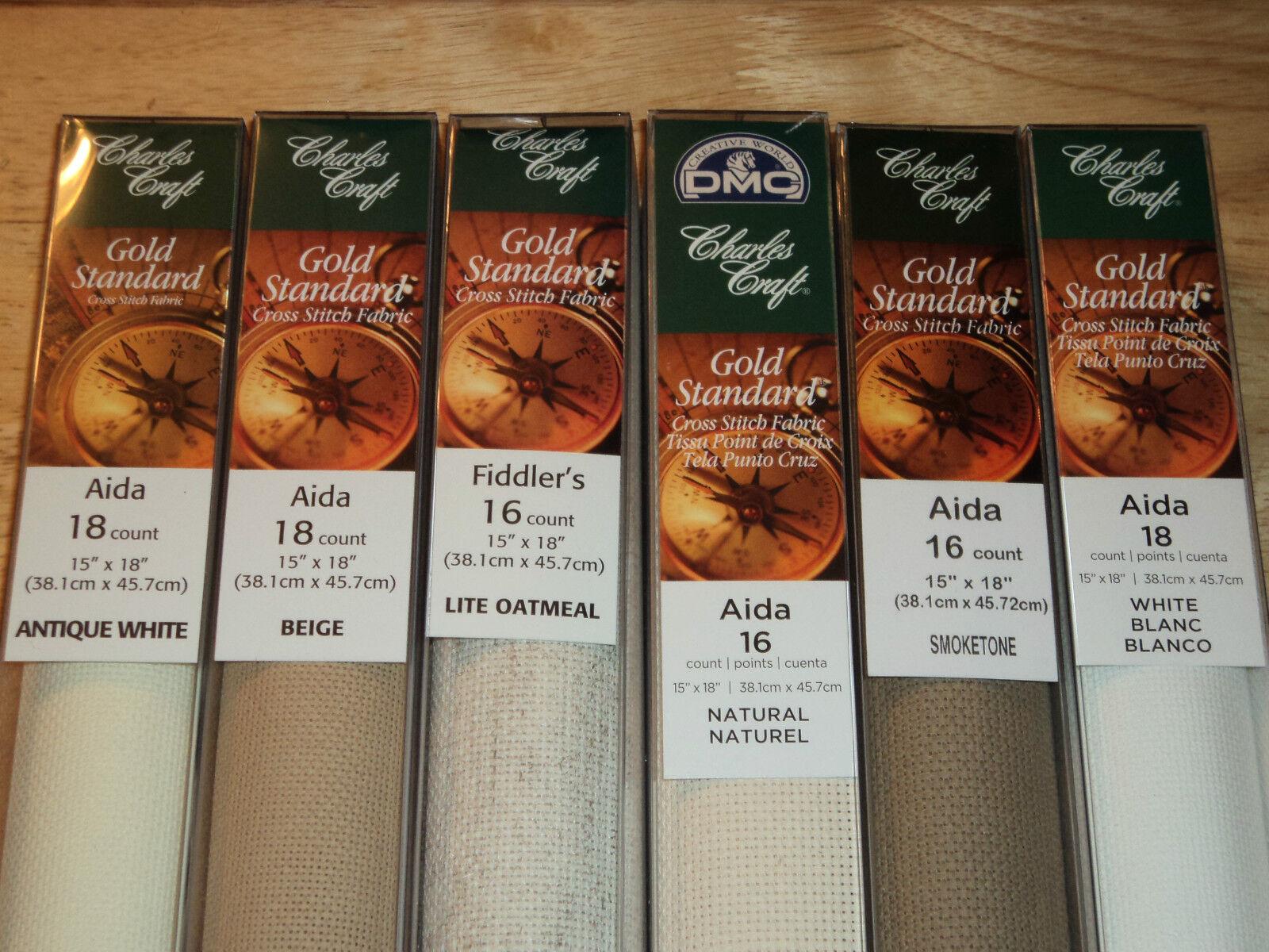 Brown Chocolate 12 x 18 Charles Craft 18 Count Aida Fabric