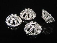 10 x Tibetan Silver 12mm Bead Caps Jewellery Silver Tone Fancy Craft A62