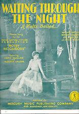 "NOISY NEIGHBORS ""Waiting Through The Night"" Alberta Vaughn Eddie Quillan"