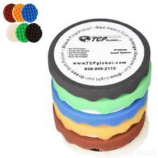 6.7in 6-pad Waffle Foam And Wool Polishing Grip Pad Set Buffing Kit Pads Tcp Glo