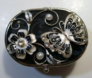 Oval-blue-glass-hinged-trinket-box-with-jeweled-enameled-butterfly-and-flower