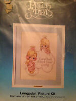 Paragon Precious Moments Needlepoint Kit every Cloud Has Silver Lining,