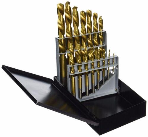 15 Pc Left-Hand Titanium Drill Bit High Speed Steel Power Tools Drill Bit