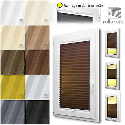 Strong-Willed Plissee Nach Maß Faltrollo Faltstore ►flax ►alu-schiene Window Treatments & Hardware Weiß ☆ Rollos Jalousien Carefully Selected Materials