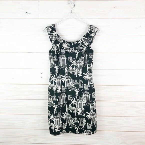 Lilly Pulitzer Dress Dominica Late Night Toile 2 - image 4