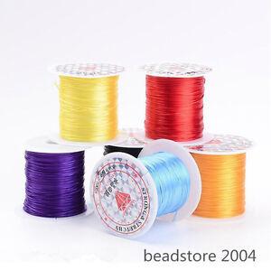 25rolls 0.8mm Mixed Elastic Fibre Cord Wire DIY Jewelry Bracelet String 10m/roll