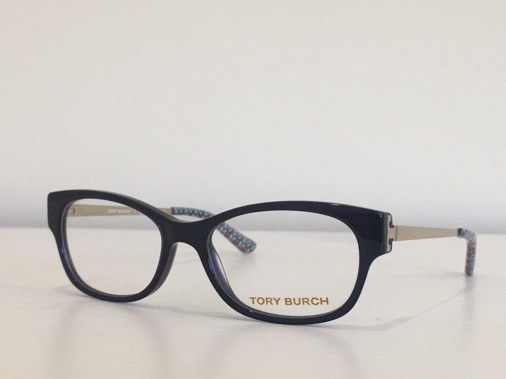 97 Tory Burch TY 2035 511 Rectangle Blue Gold Eyeglasses Optical Frame 50*16*135