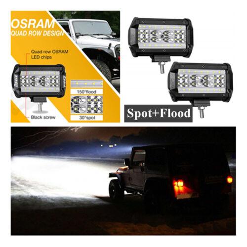 2×84W 5inch  Quad Row LED light bar Flood+Spot LAMP 4WD Truck Work Driving Light