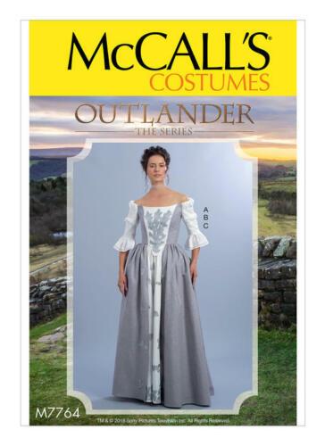 NEW OOP McCalls M7764 OUTLANDER RENAISSANCE DRESS GOWN COSTUME PATTERN UNCUT 6
