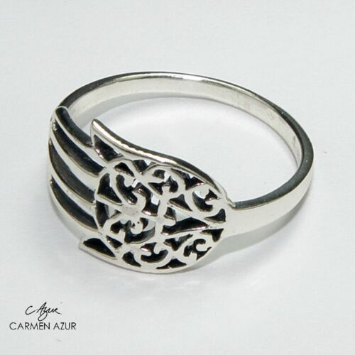 N P1//2 N1//2 L1//2 Bolsa De Regalo Sólido anillo de plata esterlina 925 Mano De Fatima//Hamsa