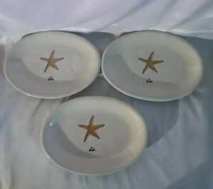 Rae-Dunn-Star-Starfish-Plates-8x5-Set-Of-3
