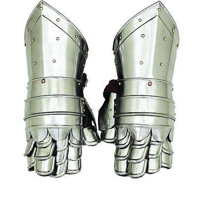 Gauntlets Armor Metal Plate Pair Set of 2 Gloves Knight Reenactment SCA