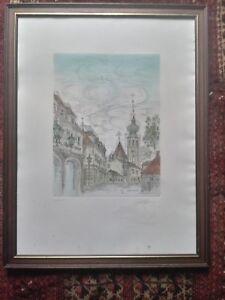 Coudenhove-Kalergie-Lithographie-Wien-Grinzing