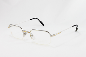 e5eb0dfb67 Image is loading NEW-CARTIER-EYEGLASSES-T8100372-PLATINUM-OPTICAL-FRAME- FRANCE-