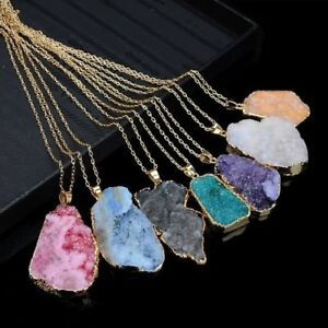 Necklace-Druzy-Magic-Stone-Jewelry-Gemstone-Natural-Pendant-Crystal-Quartz