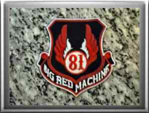 hells angels support 81 patch badge 81 big red machine. Black Bedroom Furniture Sets. Home Design Ideas