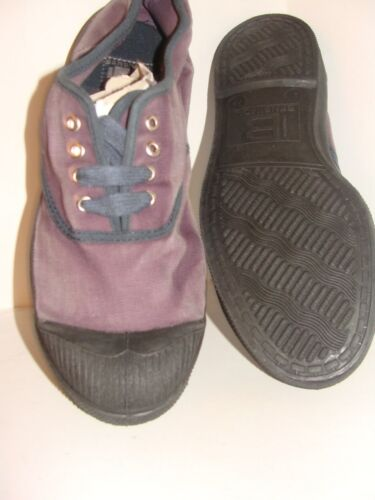 euro 37 Bensimon Tennis Shoes Color Stone Wash Plum Size 6 U.S