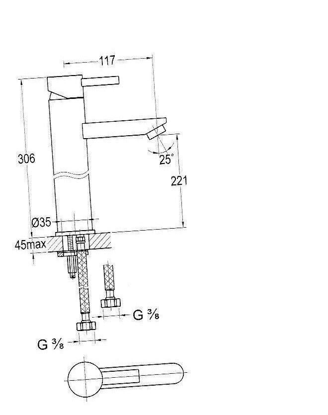 Steinberg Steinberg Steinberg Serie155.1700  Waschtisch-Einhebelmischbatterie Einhandmischer chrom 6f2803