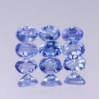 4x3mm Lot 1,2,6,10pcs Oval Cut Calibrated Natural Gem Violet Blue Tanzanite