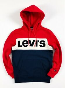 Levis-Hoodie-Men-s-Pullover-Blue-Red-White-Colour-Block-Sweatshirt-56613-0000