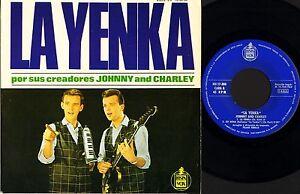 Johnny-y-Charley-LA-YENKA-4-Track-EP-HH-17-308-espanol-HISPAVOX-7-034-PS-en-muy-buena-condicion-EX