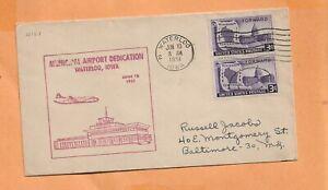 Primer Vuelo Dedicación Waterloo Iowa Aeropuerto Jun 10,1951