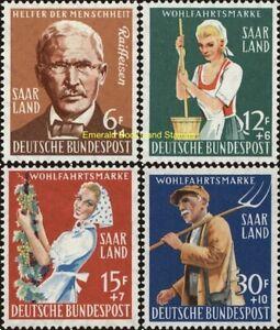 EBS Germany 1958 SAAR - Farming Co-Ops - Landwirtschaft - Michel 441-444 MNH**