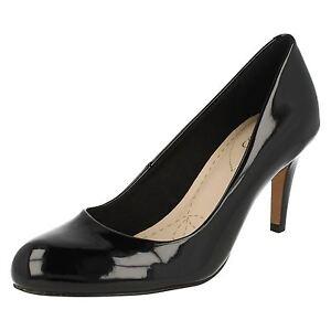 08474295935 Clarks  Carlita Cove  Ladies Black Patent 3