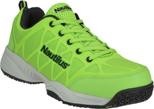 Men's Nautilus Composite Toe Athletic Work shoes, Slip Res, in Wide-Green 7 to 15