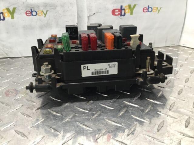 2002 Silverado 5 3 Sierra Silverado Fuse Box Relay Unit P  N 15328806